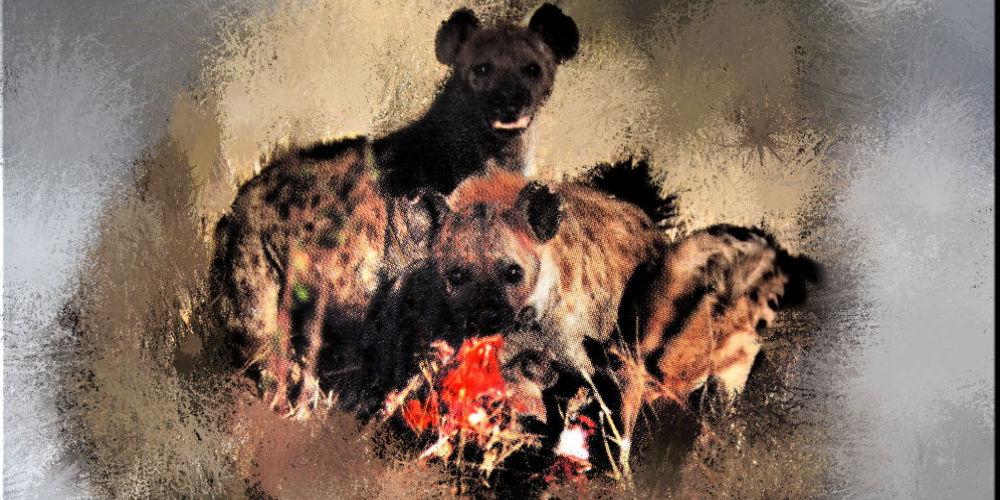 A cena con le iene.